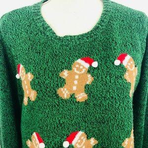 Karen Scott XL Green Ugly Christmas Sweater